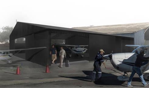 Ampliación Club Aereo La Serena: Casas de estilo industrial por Superficie Arquitectura