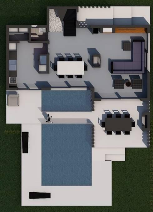 LEYLA ERCAN MİMARLIK – Zemin Kat Planı:  tarz Oturma Odası
