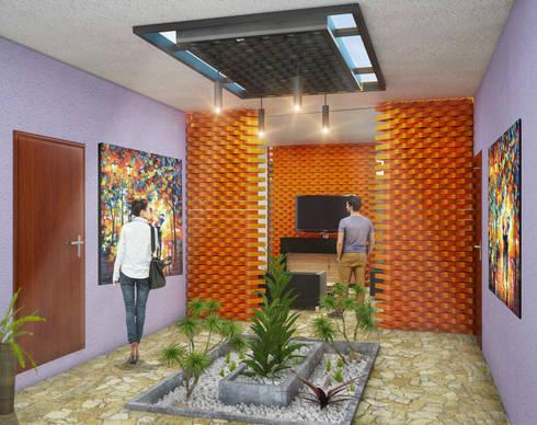 Pasillos y vestíbulos de estilo  por LOFT ESTUDIO arquitectura y diseño