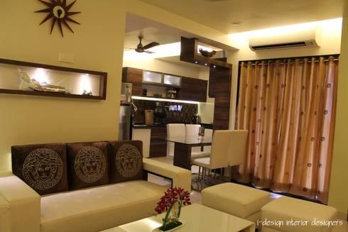3bhk: modern Dining room by I - design interior designer's