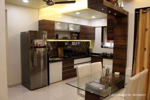 3bhk: modern Kitchen by I - design interior designer's