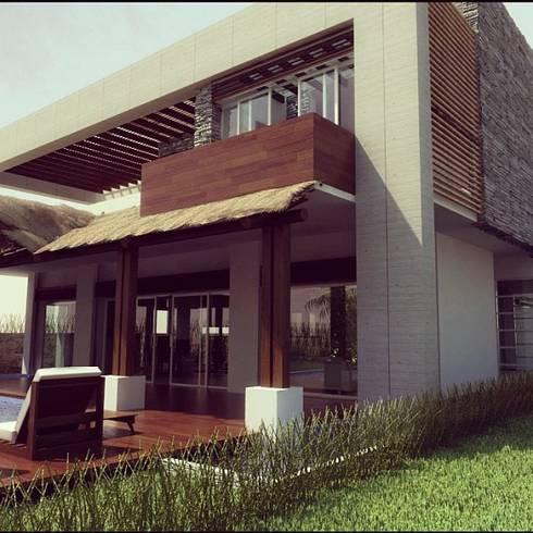 proyecto casa habitacion:  de estilo  por FRACTAL CORP Arquitectura