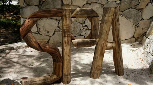 proyecto y obra spa : Spa de estilo rústico por FRACTAL CORP Arquitectura
