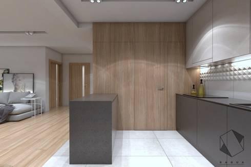 Projekt domu jednorodzinnego 12: styl , w kategorii Kuchnia zaprojektowany przez BAGUA Pracownia Architektury Wnętrz