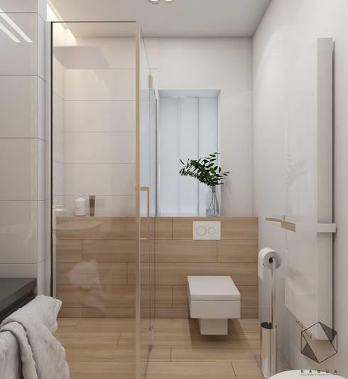 Projekt domu jednorodzinnego 12: styl , w kategorii Łazienka zaprojektowany przez BAGUA Pracownia Architektury Wnętrz