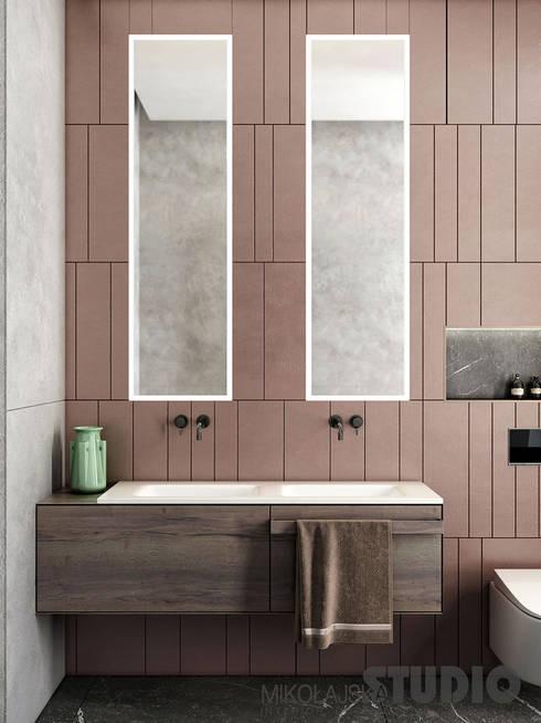 Kupfer im Badezimmer:  Badezimmer von MIKOLAJSKAstudio