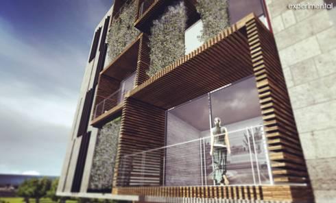 VISTA DE BALCONES: Casas de estilo moderno por CA ARQUITECTOS