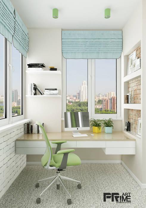 Из двухкомнатной квартиры сделали трехкомнатную и кабинет-гостевая!: Рабочие кабинеты в . Автор – 'PRimeART'