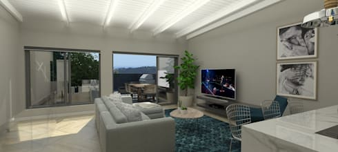 TV Room:   by Holloway and Hound architecture and interiors