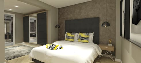 Master Bedroom:   by Holloway and Hound architecture and interiors