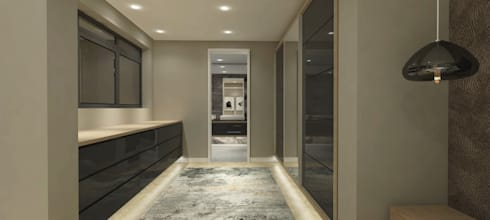 New dressing room:   by Holloway and Hound architecture and interiors