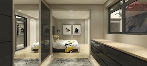 Main bedroom:   by Holloway and Hound architecture and interiors
