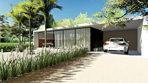 Casa contempor nea por lopes e theisen arquitetura homify for Casa minimalista 300m2