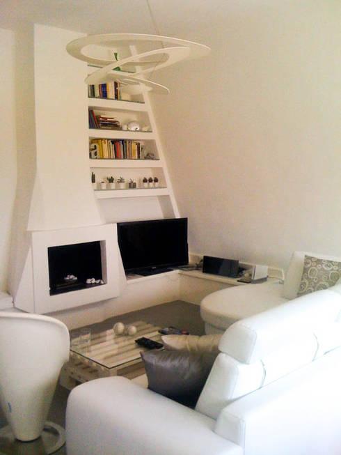 Salas de estilo moderno por FLAPstudio   ArchitecturalDesignLAB
