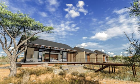 Bush lodge: country Houses by Gottsmann Architects