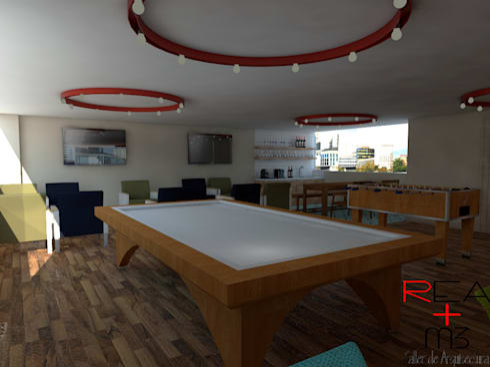 Oficinas CoWorking: Oficinas y tiendas de estilo  por REA + m3 Taller de Arquitectura