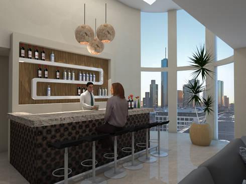 Cantina CDMX: Cavas de estilo moderno por REA + m3 Taller de Arquitectura
