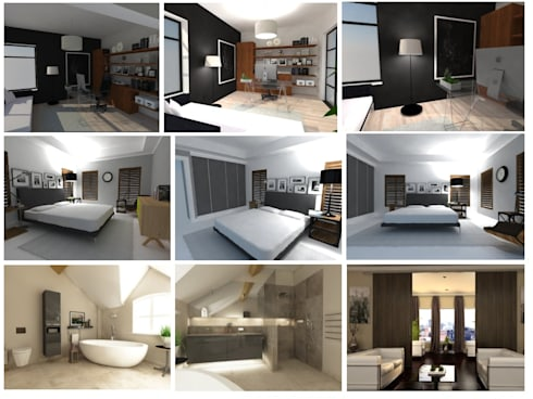 3D Renderings:   by Bevel Interior Design