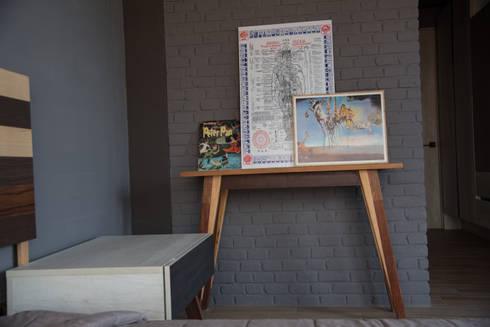 Departamento muestra Torre de Piedra : Recámaras de estilo moderno por DODA Arquitectura + Diseño