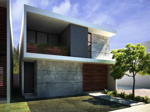 AQUA: Casas de estilo moderno por Art.chitecture, Taller de Arquitectura e Interiorismo 📍 Cancún, México.