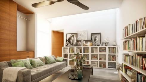 Hall/Sala de TV: Salas de estilo minimalista por Taller Veinte