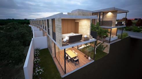 Sección Longitudinal:  de estilo  por Studio de Arquitectura y Ciudad
