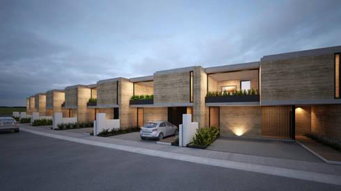 Fachada principal.:  de estilo  por Studio de Arquitectura y Ciudad