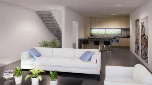 Sala/Comedor: Salas de estilo minimalista por Taller Veinte