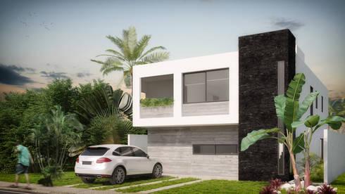 Fachada Principal: Casas de estilo minimalista por Taller Veinte