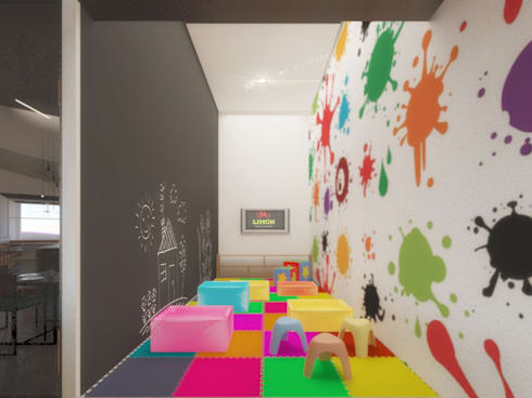 Kids Club: Restaurantes de estilo  por Taller Veinte