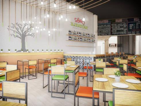 Área Comensales: Restaurantes de estilo  por Taller Veinte