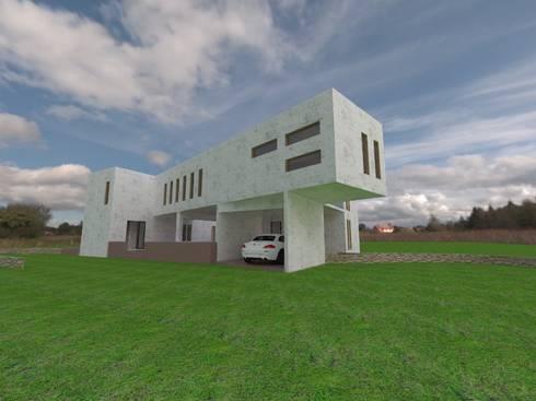 CASA FUNDO EL PERAL: Casas de estilo mediterraneo por Arquiconst Arquitectos