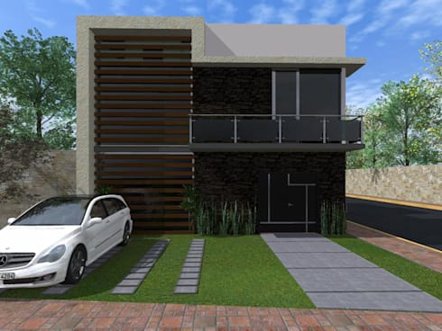 Casa FM: Casas de estilo minimalista por HC Arquitecto
