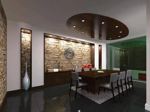 Casa FM: Comedores de estilo minimalista por HC Arquitecto