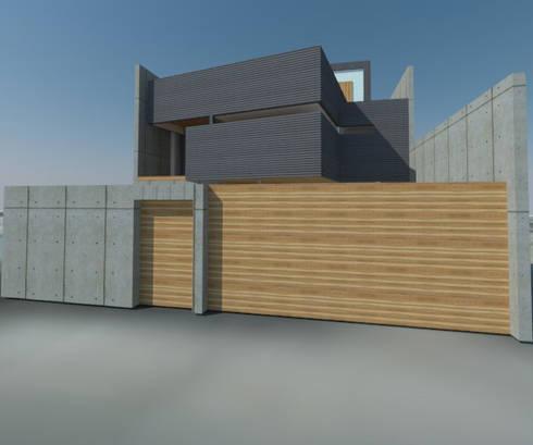 Casa Jara-Andrade, Iquique... Tramas, vacío y luz.: Casas de estilo moderno por Toledo estudio Arquitectos