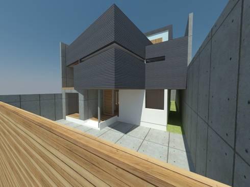 Casa Jara-Andrade, Iquique… Tramas, vacío y luz.: Casas de estilo moderno por Toledo estudio Arquitectos