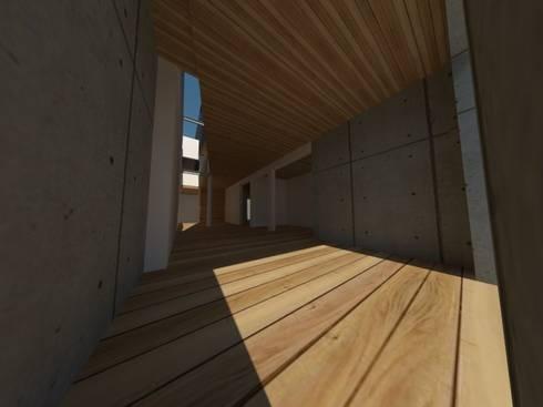Casa Jara-Andrade, Iquique… Tramas, vacío y luz.: Livings de estilo moderno por Toledo estudio Arquitectos