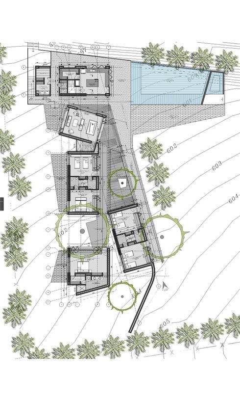 CASA L1 _ San Jerónimo Antioquia: Casas de estilo minimalista por tresarquitectos