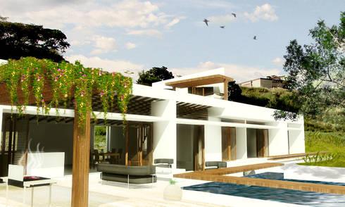 CASA _ M+A _ Santa Fe de Antioquia: Casas de estilo minimalista por tresarquitectos