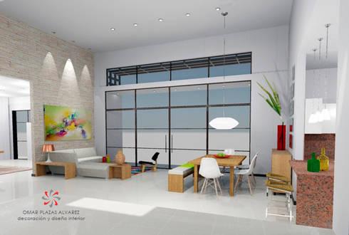 Casa Villeta Cundinamarca:  de estilo  por Omar Plazas Empresa de  Diseño Interior, remodelacion, Cocinas integrales, Decoración
