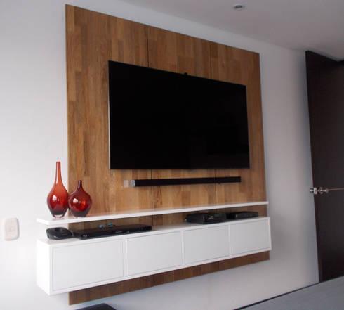 salas modernas:  de estilo  por Omar Plazas Empresa de  Diseño Interior, remodelacion, Cocinas integrales, Decoración