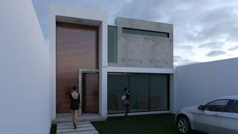 Fachada principal: Garajes de estilo minimalista por Architektur