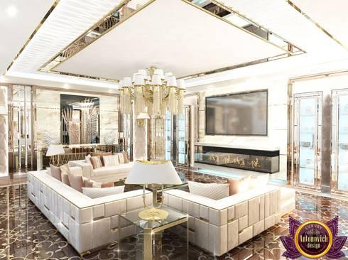 Luxury living room design ideas of Katrina Antonovich: modern Living room by Luxury Antonovich Design