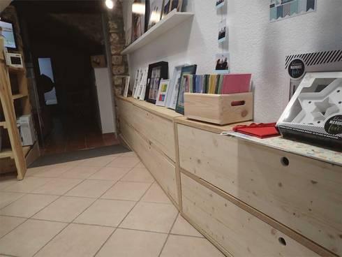 muebles de madera natural para tienda