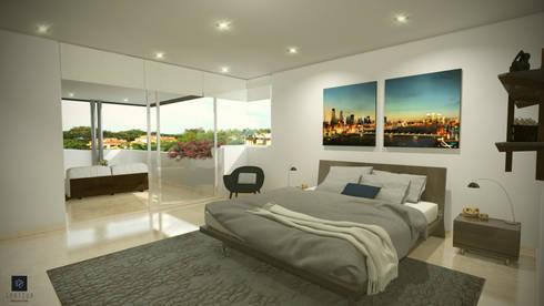 Casa HG:  de estilo  por Spatium Arquitectura