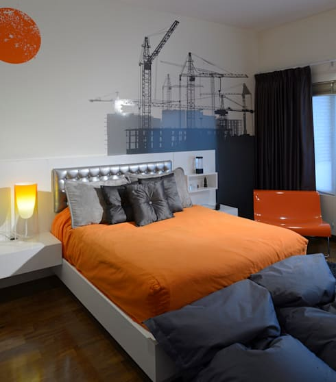 Residencia Valle Real: Recámaras de estilo  por Spacio