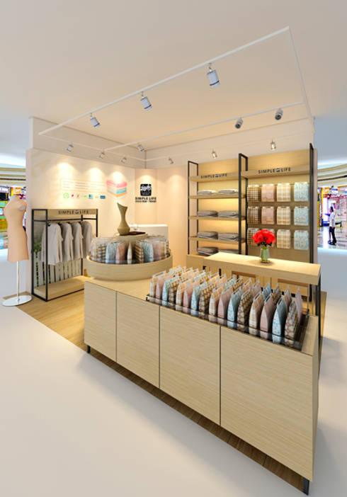 越南 胡志明市 NOWZONE專櫃設計:  辦公空間與店舖 by 直譯空間設計有限公司