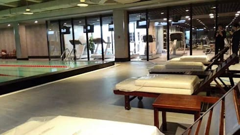 天津 格林會館 健身中心:  飯店 by 直譯空間設計有限公司
