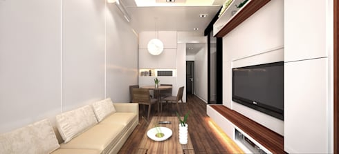 6/F TOWER 6 METRO TOWN PHASE 2 LE POINT: minimalistic Dining room by Much Creative Communication Limited
