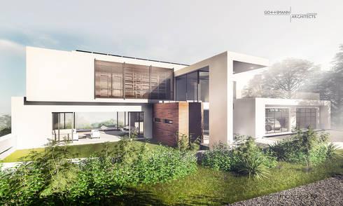 Terrace: modern Houses by Gottsmann Architects